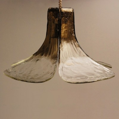Flower Petal Chandelier hanging lamp from the sixties by Carlo Nason for Mazzega