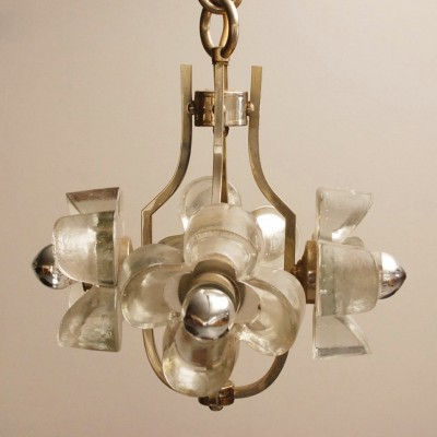 Flower hanging lamp by Mazzega, 1960s