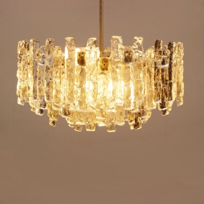 Very rare giant chandelier from Kalmar with ice glass