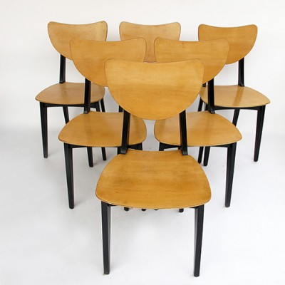6 x vintage dining chair, 1950s