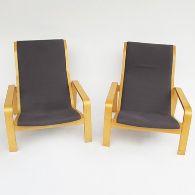 2 x Beach lounge chair by Ilmari Lappalainen for Asko, 1970s