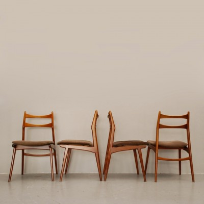 Set of 4 Habeo dining chairs, 1960s