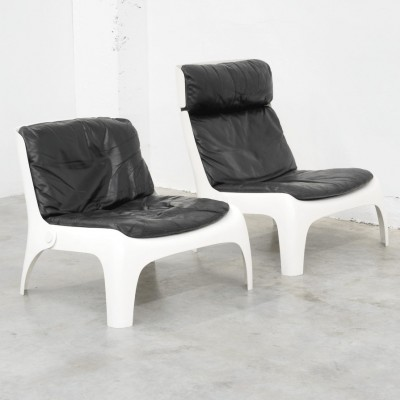 Pair of vintage lounge chairs, 1970s