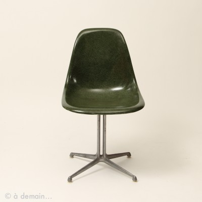 5 x Green DSW La Fonda base dining chair by Charles & Ray Eames for Herman Miller, 1950s