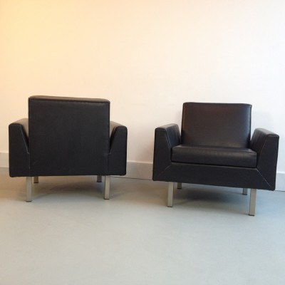 Pair of 400 serie lounge chairs by Theo Ruth for Artifort, 1960s