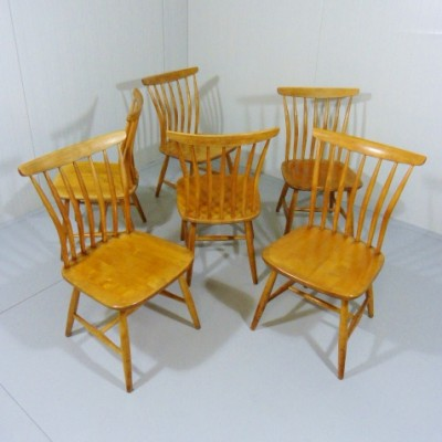 Set of 6 dinner chairs by Bengt Akerblom for Akerblom, 1950s