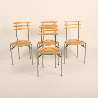 Set of 4 Zumsteg Collection dining chairs, 1970s