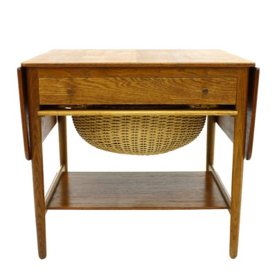 Sewing Table Side Table by Hans Wegner for Andreas Tuck
