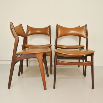 Set of 4 Model 310 dining chairs by Erik Buck for ACO Møbler, 1950s