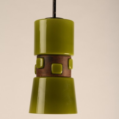 Pair of hanging lamps by Victor Bernt for Flygsfors, 1960s