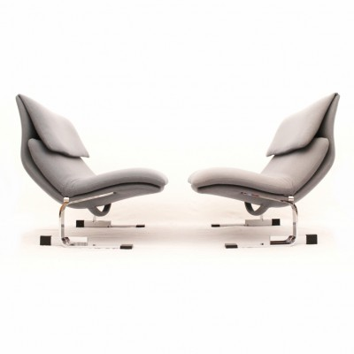 Pair of Onda lounge chairs by Giovanni Offredi for Saporiti, 1970s