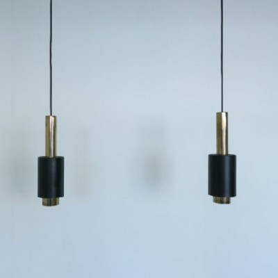 Pair of hanging lamps by Jo Hammerborg for Indoor, 1960s