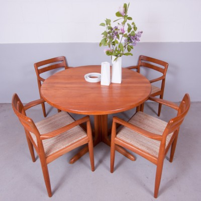 Set of 5 dining sets by Henry W. Klein for CJ Rosengaarden, 1970s