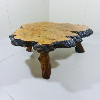 Tree Trunk coffee table by Frank Armich, 1970s