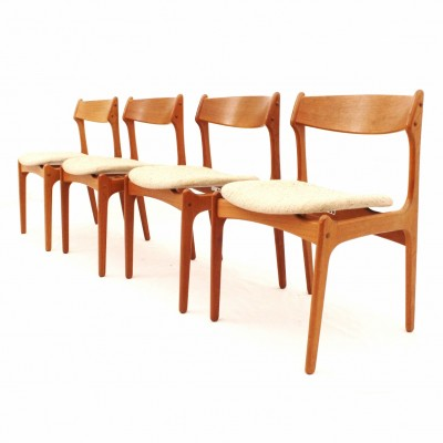 Set of 4 Model 49 dining chairs by Erik Buck for O. D. Møbler, 1950s