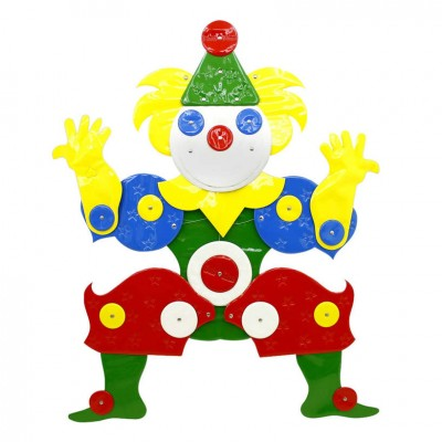 Large Plastic Clown 'I like It Soft' by Guenther Kieser for Zapf Softline, 1971