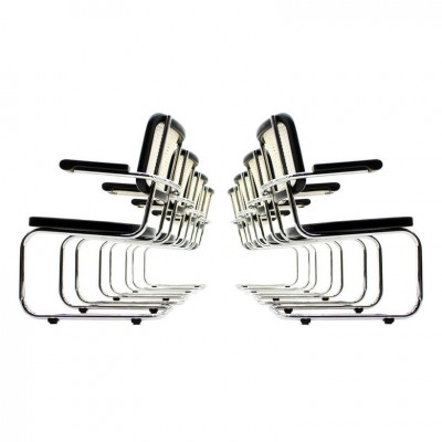 Set of 8 S67F dinner chairs from the thirties by Mart Stam for Thonet