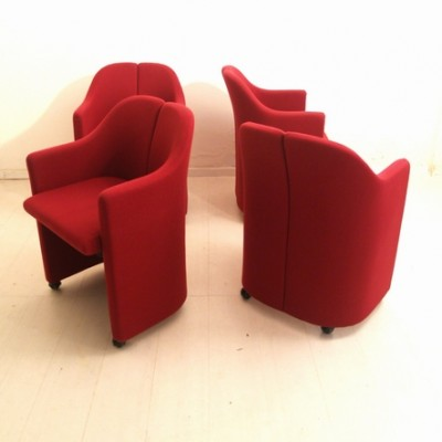 Set of 4 PS 142 dinner chairs by Eugenio Gerli for Tecno, 1960s
