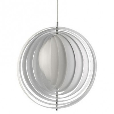 2 Small VP Moon hanging lamps from the sixties by Verner Panton for VerPan