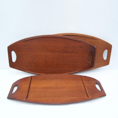 Surfboard Serving Tray by Jens Quistgaard for Dansk, 1950s