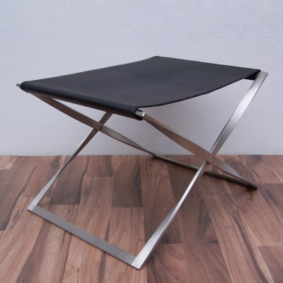 PK91 Folding stool from the sixties by Poul Kjærholm for Fritz Hansen