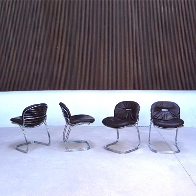 Set of 4 Sabrina dining chairs by Gastone Rinaldi for Rima Italy, 1970s