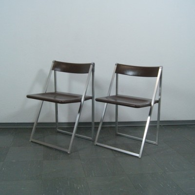 Pair of Folding Chair dining chairs by Interlübke, 1970s