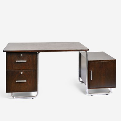 Variant of the model B 287 writing desk from the thirties by Bruno Weil for Mücke Melder