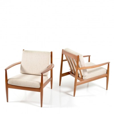 Set of 2 model 118 lounge chairs from the sixties by Grete Jalk for France & Son