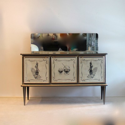 Harrods London Bar Credenza sideboard by Umberto Mascagni for Mascagni, 1950s