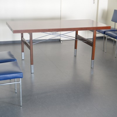 Serie Prestige dining table by Pierre Guariche for Minvielle, 1960s