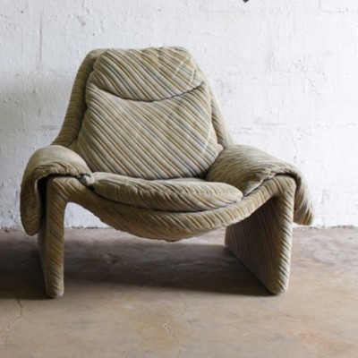 2 x P60 lounge chair by Vittorio Introini for Saporiti, 1970s