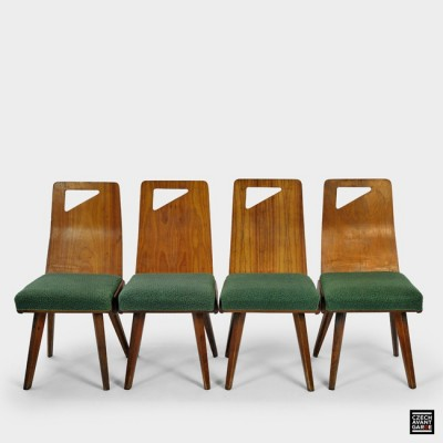 4 Grand Hotel dinner chairs from the fifties by unknown designer for unknown producer