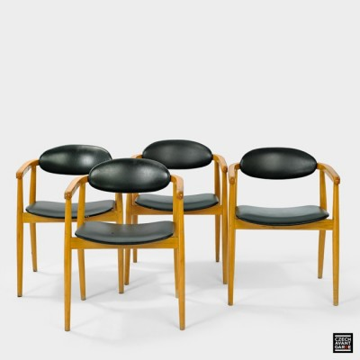 Set of 4 dinner chairs from the sixties by Antonin Šuman for Ton S. P. Bystřice pod Hostýnem