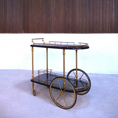 Serving trolley from the sixties by Aldo Tura for Tura