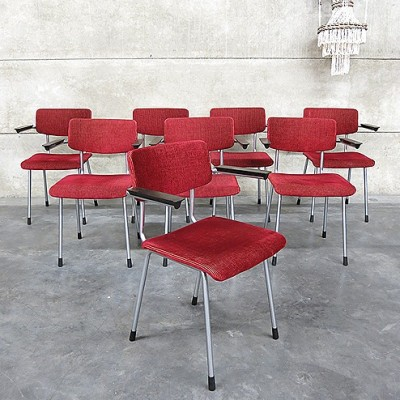 Set of 8 No. 1235 dinner chairs by André Cordemeyer for Gispen, 1950s