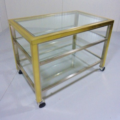 Maison Jansen serving trolley, 1970s