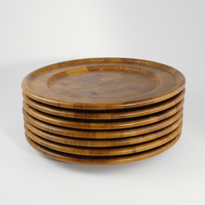 Wooden Plates from the seventies by unknown designer for Digsmed