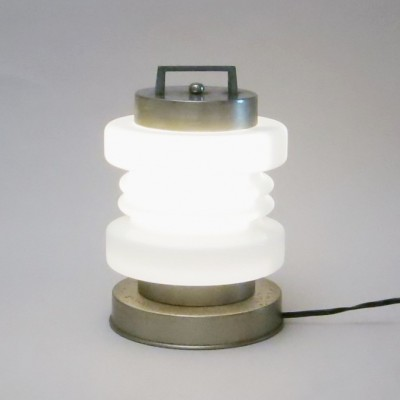 Lantern desk lamp by Mazzega, 1960s