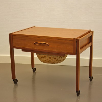 Sewing Cart Side Table by Unknown Designer for Unknown Manufacturer