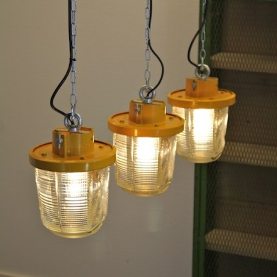 10 hanging lamps from the seventies by unknown designer for Philips