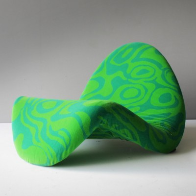 Tongue Chair by Pierre Paulin for Artifort in Jack Lenor Larsen Fabric