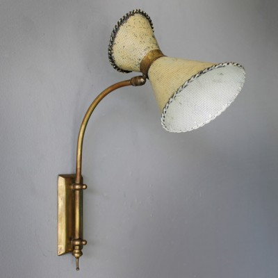 Wall lamp by Mathieu Matégot for Studio Matégot, 1950s