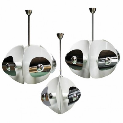 Set of Three Italian Space Mirror Pendants