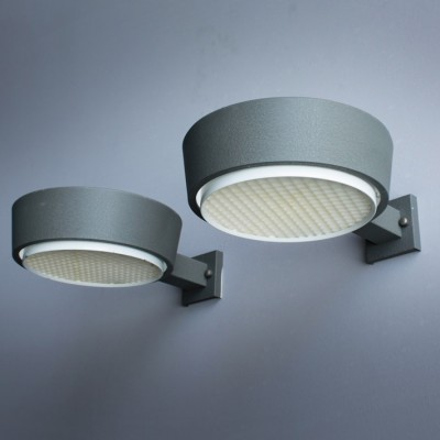 Pair of Hiemstra Evolux wall lamps, 1950s