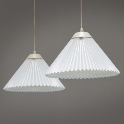 Pair of Le Klint hanging lamps, 1960s