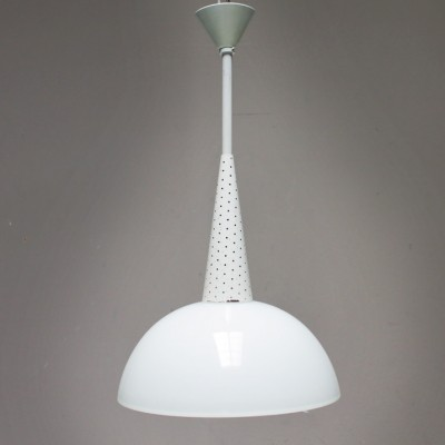 Holophane hanging lamp by Mathieu Matégot for Holophane, 1950s