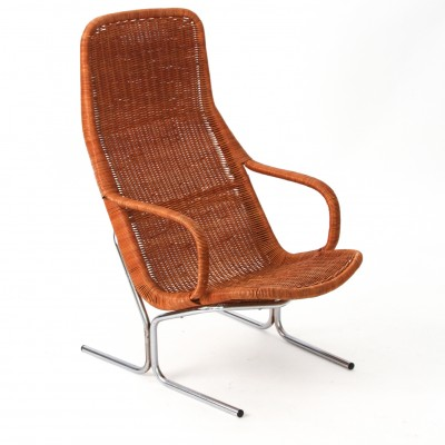 Rattan Lounge Chair by Dirk van Sliedregt for Rohé Noordwolde