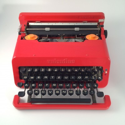 Valentine Typewriter from the sixties by Ettore Sottsass for Olivetti