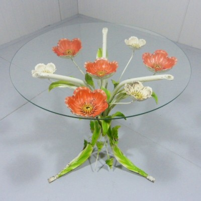 French Flower side table, 1950s